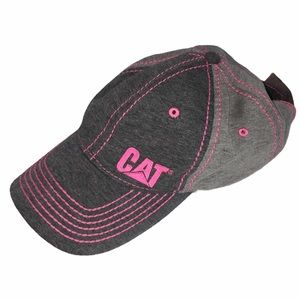 CAT Caterpillar Gray & Pink Baseball Hat